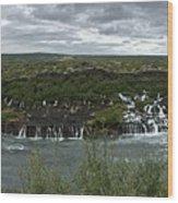 Icelandic Waterfall Wood Print