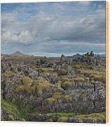 Icelands Mossy Volcanic Rock Wood Print