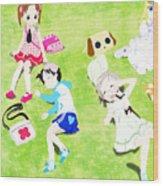Ichigo Mashimaro Wood Print