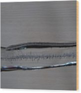 Icicle Patterns Wood Print