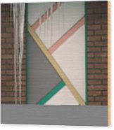 Icicles 3 - In Front Of Architectural Design Off Red Brick Bldg. Wood Print