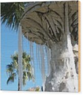Icicles In A Palm Filled Sky Number 1 Wood Print