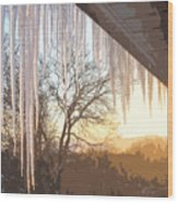 Icicles One Wood Print