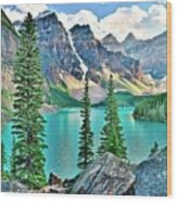 Iconic Banff National Park Attraction Wood Print