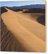 Iconic Dunes At Death Valley Wood Print