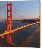 Iconic Golden Gate Bridge In San Francisco Wood Print by Pierre Leclerc Photography