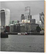 Iconic London Skyline Wood Print