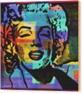 Iconic Marilyn Wood Print