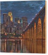 Iconic Minneapolis Stone Arch Bridge Wood Print