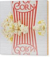 Iconic Striped Popcorn Carton Wood Print