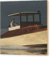 Iconic Wooden Runabout Wood Print
