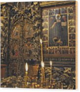 Iconostasis - Church Of Elijah The Prophet Wood Print