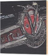 Icons Buick V8 Wood Print