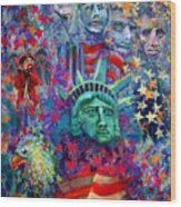 Icons Of Freedom Wood Print