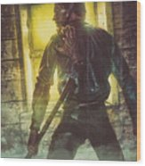 Icons Of Horror Evil Dead Wood Print