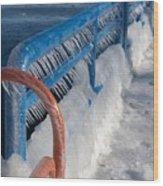 Icy Aftermath Wood Print