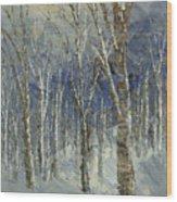 Icy Bells Wood Print