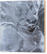 Icy Creek Forms In Pocono Mountains Wood Print