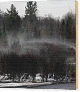 Icy Fog Wood Print