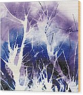 Icy Forest Wood Print