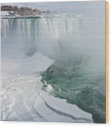 Icy Fury - Niagara Falls Spectacular Ice Buildup Wood Print