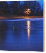 Icy Glow Wood Print
