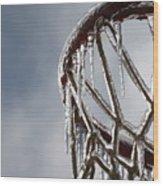 Icy Hoops Wood Print