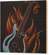 Icy Hot Axe Wood Print