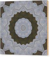 Icy Lace Kaleidoscope Wood Print