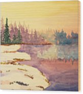 Icy Lake Wood Print