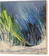 Icy Pond Wood Print