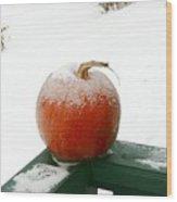 Icy Pumpkin Wood Print