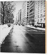 Icy Snow Wood Print
