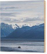 Icy Strait Fishing Wood Print