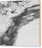Icy Swath Wood Print