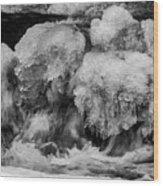 Icy Harmony Wood Print