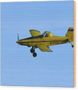 Idaho Crop Duster Wood Print