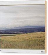 Idaho Valley Wood Print