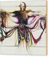 Identity Crisis Wood Print by Anthony Burks Sr