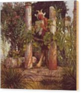 Idyll Pan Amidst Columns 1875 Wood Print