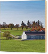 Idyllic Autumn Farm Wood Print