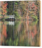 Idyllic Autumn Reflections Wood Print