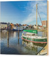 Idyllic North Sea Town Of Husum Wood Print
