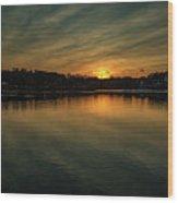 Idyllic Philadelphia Sunset Wood Print