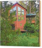 Idyllwild Cabin 1874 Wood Print