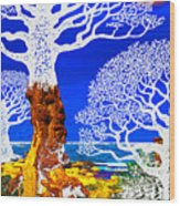 If A Tree Falls In Sicily White Wood Print