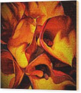 If Van Gogh Painted Calla Lilies Wood Print