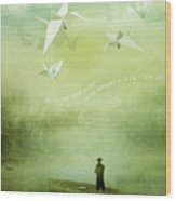If Wishes Were Wings Wood Print by Silas Toball
