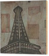 Iffel Tower Wood Print