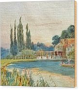 Iffley Mill On The River Thames Wood Print